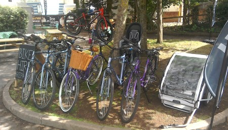 Cycles for hire at Exe Trail Cycle Hire